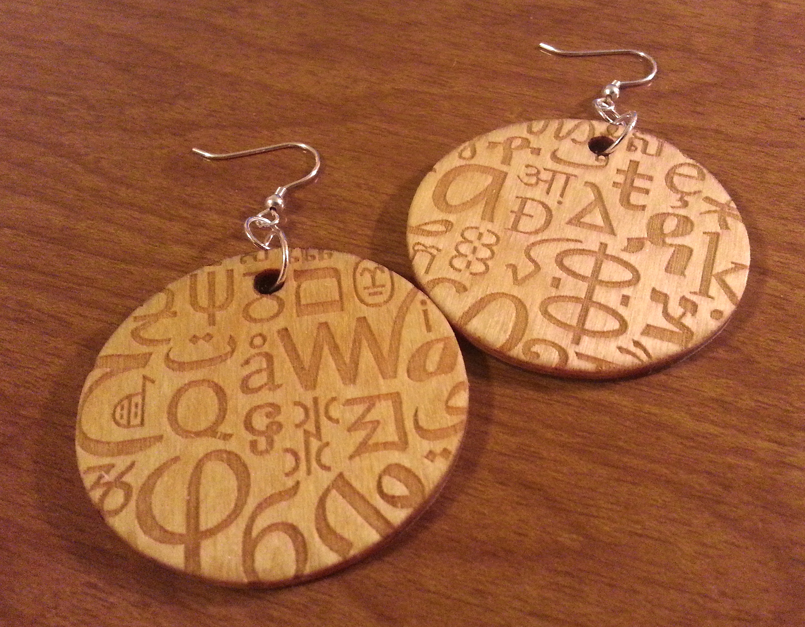 Letters Becca Making Faces Copper Recycled Circuit Board Earrings Dangle Letter Fab 3